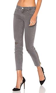 Узкие джинсы looker zip fray - MOTHER