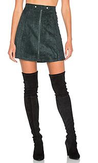 Suede zip up a line skirt - Bishop + Young