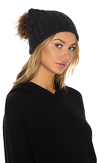 Лыжная шапочка с помпоном из меха азиатского енота haven - 360 Sweater