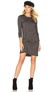 Платье с защипом спереди olive - Riller & Fount