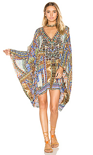 Короткое платье в восточном стиле с разрезами на плечах - Camilla