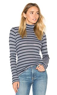 Полосатый утепленный  свитер с высоким воротом - Stateside