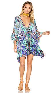Короткое платье с завязкой спереди - Camilla