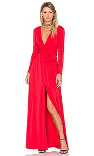 Вечернее платье с запахом на завязке и v-образным вырезом - Halston Heritage
