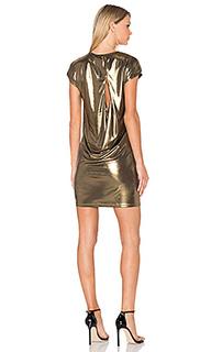 Платье из золотистой джерси - Halston Heritage
