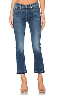 Unfinished hem distressed crop boot - 7 For All Mankind