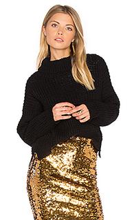 Waffle turtleneck sweater - Tejido