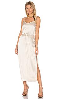 Атласное платье на бретельках - Halston Heritage