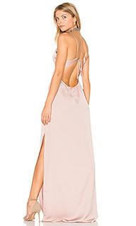 Макси платье с глубоким v-образным вырезом - Capulet