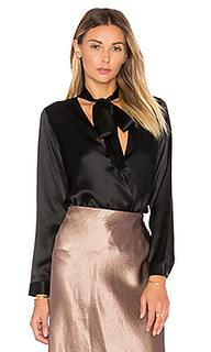 Tie neck wrap blouse - Michelle Mason