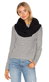 Fleece lined chunky knit scarf - Plush