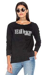 Split hi lo yeah right sweatshirt - Pam & Gela
