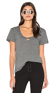 Destroyed scoop neck tee - Pam & Gela