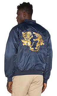 Tiger claw satin jacket - 10 Deep