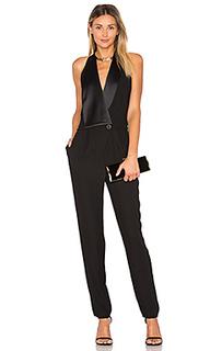 Halter neck tuxedo jumpsuit - Halston Heritage