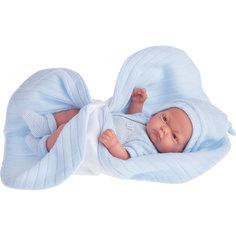 """Кукла-младенец """"Карлос"""" в голубом одеяле, 26 см, Munecas Antonio Juan"""