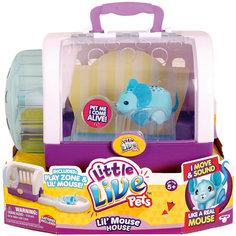 Интерактивная мышка в домике, голубая, Little Live Pets Moose