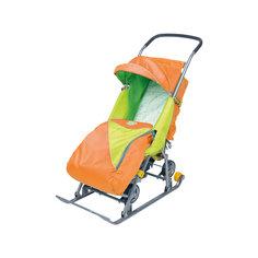 Санки-коляска Тимка 2 Универсальные, оранжевый Ника