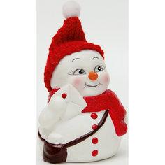 """Керамический снеговик """"Почтальон"""" Magic Time"""