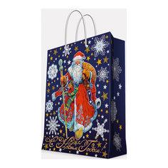 """Подарочный пакет """"Дед Мороз в красном кафтане"""" 26*32,4*12,7 см Magic Time"""