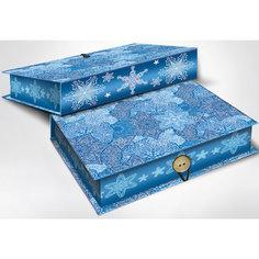 """Подарочная коробка """"Морозные узоры"""" 20*14*6 см Magic Time"""