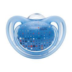 Пустышка силиконовая для сна FREESTYLE 1 шт. р-р 3, NUK, голубой