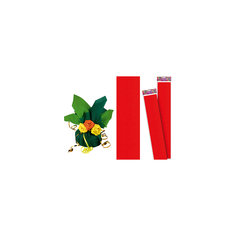 Красная крепированная бумага 50*250 см Tukzar