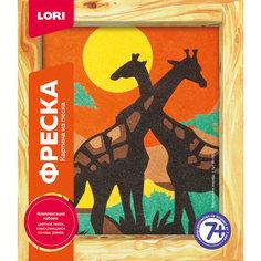 Фреска, Картина из песка Африканские жирафы Lori