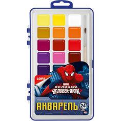 Акварель Marvel Человек-паук 24 цветов, в пластике Lori