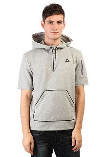 Толстовка кенгуру Le Coq Sportif Lcs Tech Po Hood Light Heather Grey