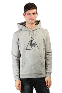 Толстовка кенгуру Le Coq Sportif Affutage Po Hood Brushed Light Heather
