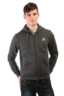 Толстовка классическая Le Coq Sportif Ailier Fz Hood Brushed Dark Heather Grey