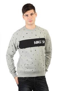 Толстовка классическая Nike SB Bluza X Ch Everett Grey