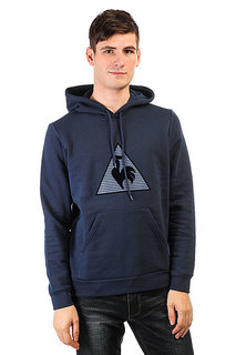 Толстовка кенгуру Le Coq Sportif Geo Jacquard Po Hood Dress Blues