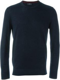 свитер с заплатками на локтях  Joseph