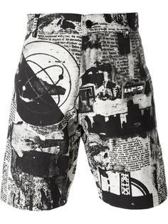 шорты с принтом газет KTZ
