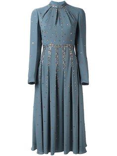 декорированное платье миди  Valentino