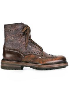 ботинки в стиле брог Santoni
