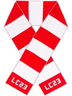 шарф в полоску с логотипом Lc23