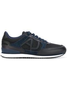 кроссовки с контрастными панелями Armani Jeans