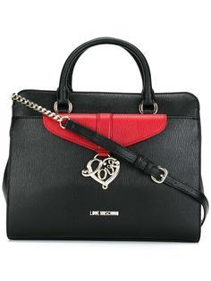 средняя сумка-тоут с двумя ручками Love Moschino