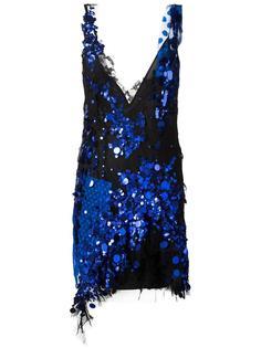 платье с пайетками и асимметричным подолом Amen