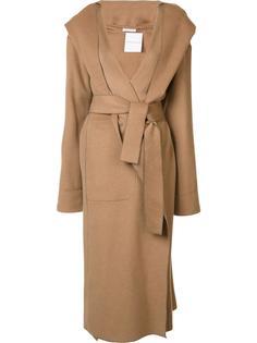 длинное пальто с капюшоном Barbara Casasola