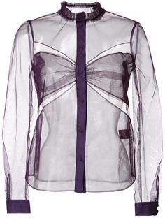 cut-off detailing sheer shirt Mary Katrantzou
