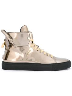 metallic hi-top sneakers Buscemi