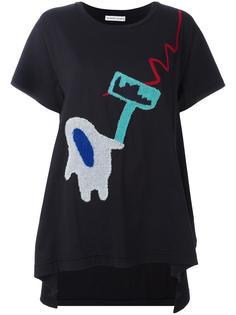 асимметричная футболка с аппликацией Tsumori Chisato