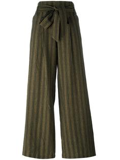 прямые брюки в полоску с поясом Masscob
