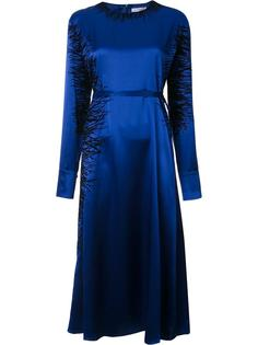 атласное платье с длинными рукавами J.W.Anderson