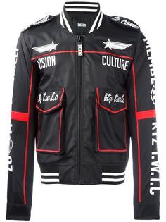 спортивная куртка с вышивкой KTZ