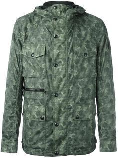 camouflage print parka coat Belstaff